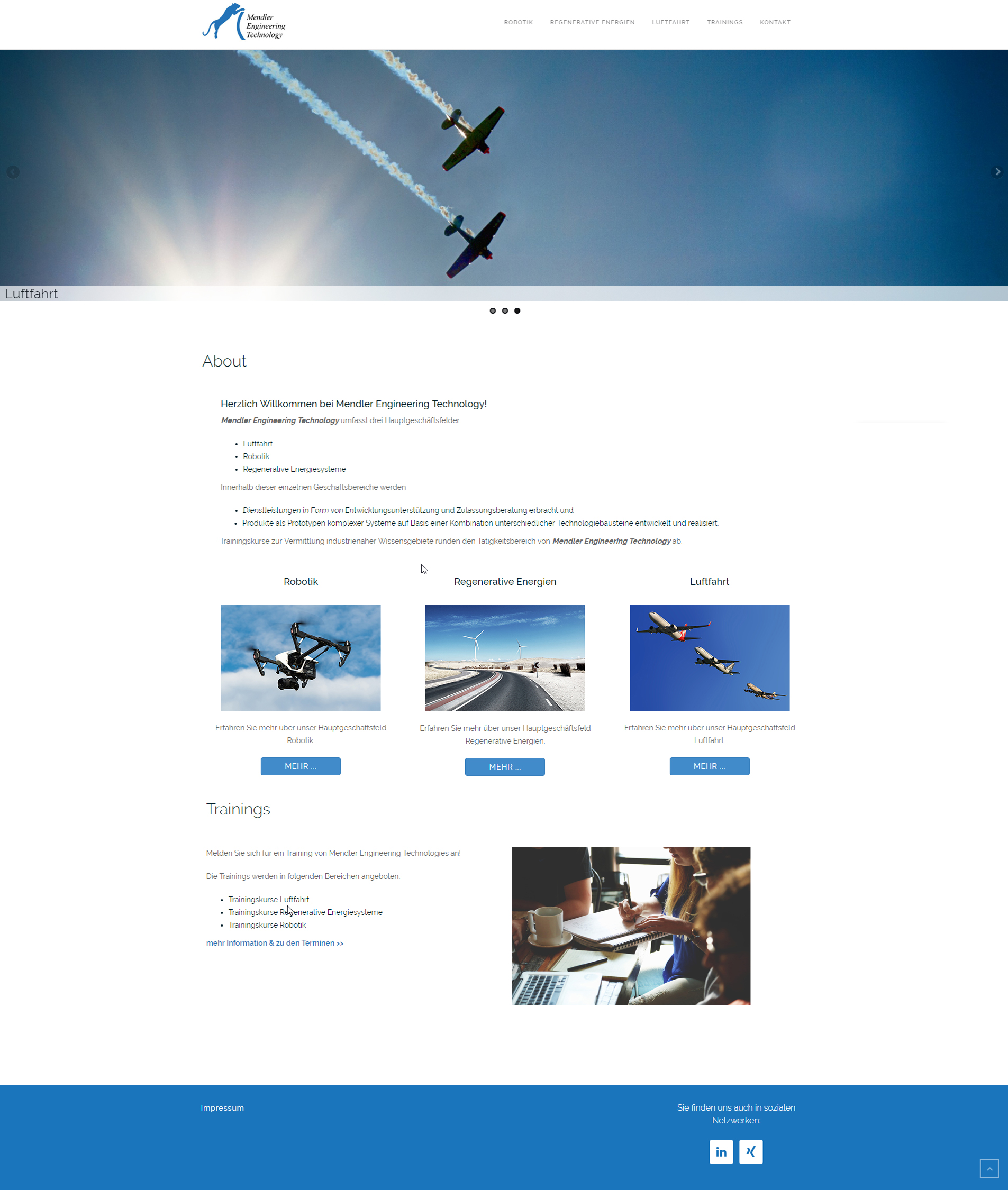 mendler-engineering-technology-website